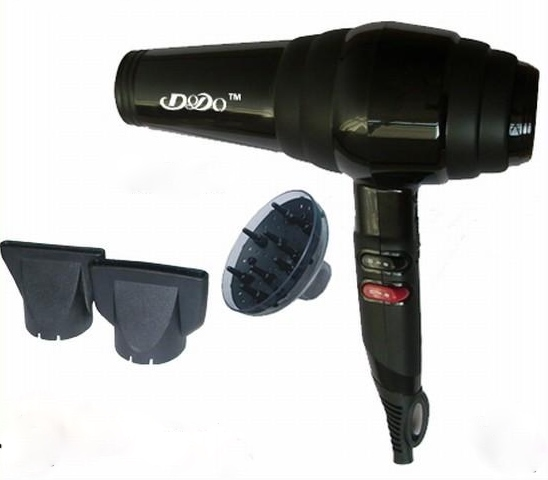 MOST POWERFUL Blow Dryer, Black 2300 Watts with Diffuser.