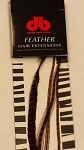 Long Striped Brown Feather Extensions