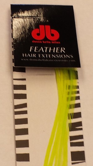 Long Solid Chartreuse Feather Extensions