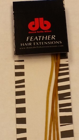 Long Solid Golden Yellow Feather Extensions