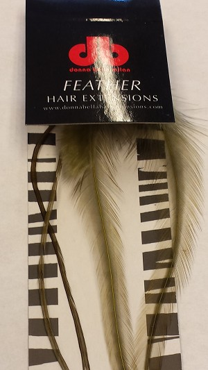 Long Solid Olive Feather Extensions